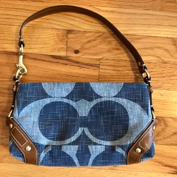 Coach Bags   Carly Signature C Small Blue Denim Bag Euc   Poshmark 23f5629f28